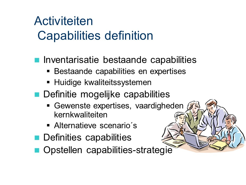 ASL - Capabilities definition: Activiteiten