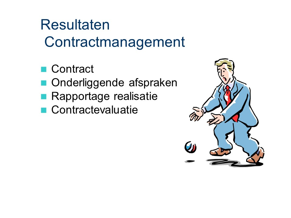 ASL - Contractmanagement: Resultaten
