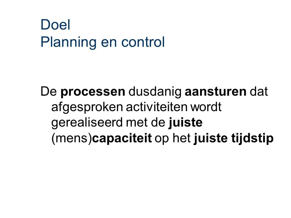ASL - Planning en control: Doel