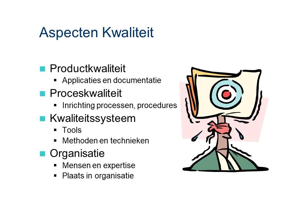 ASL - Kwaliteitsmanagement: Aspecten