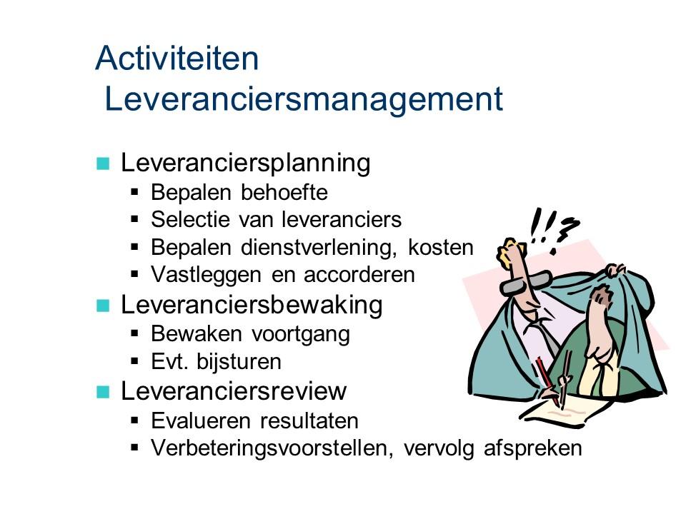 ASL - Leveranciersmanagement: Activiteiten