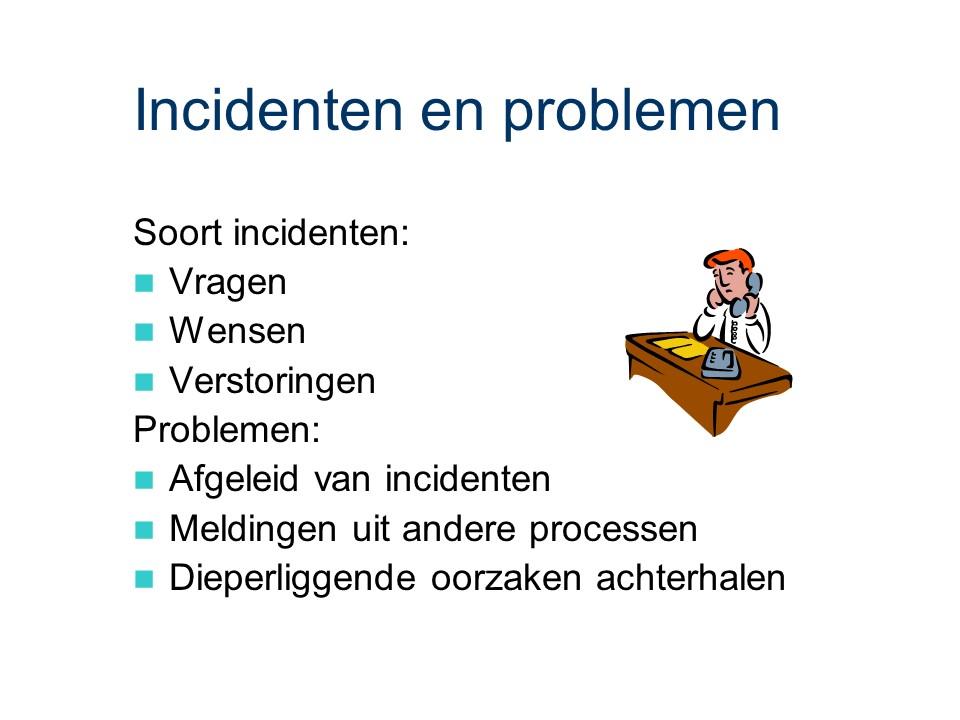 ASL - Gebruiksondersteuning: Incidenten en problemen.