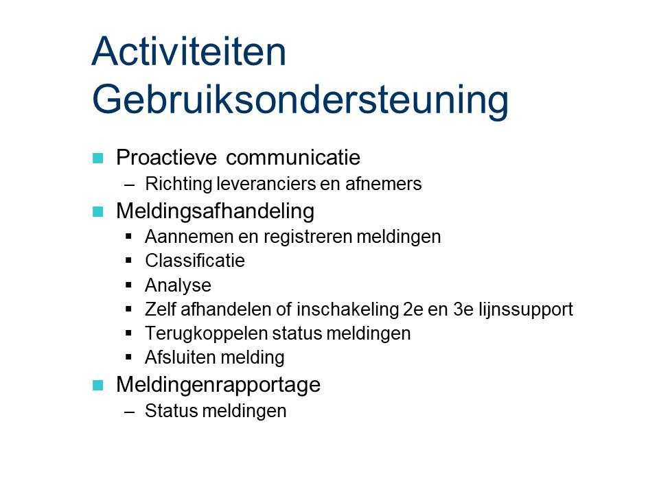 ASL - Gebruiksondersteuning: Activiteiten.