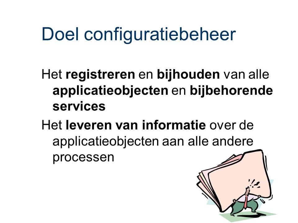 ASL - Configuratiebeheer: Doel
