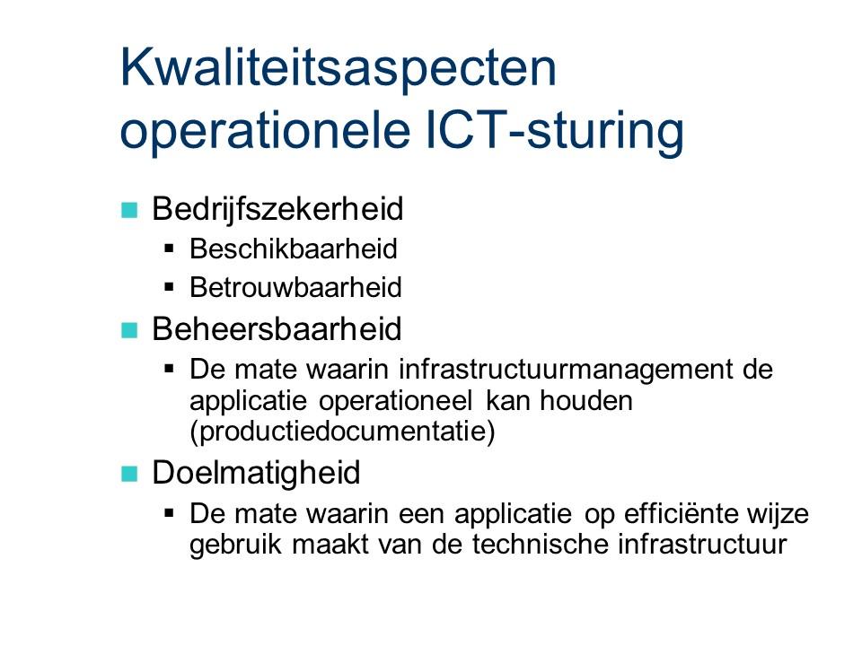 ASL - Operationele ICT-sturing: Kwaliteitsaspecten