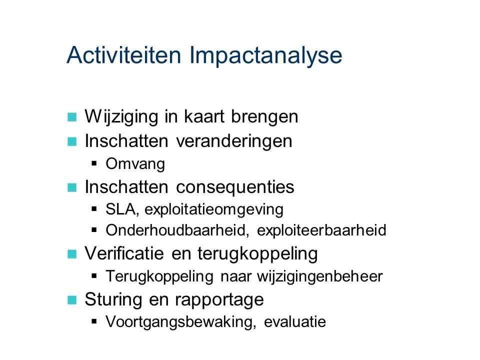 ASL - Impactanalyse: Activiteiten