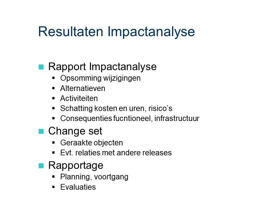 ASL - Impactanalyse: Resultaten