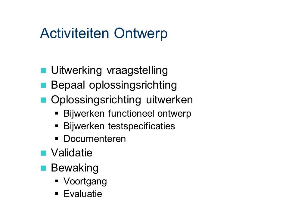 ASL - Ontwerp: Activiteiten