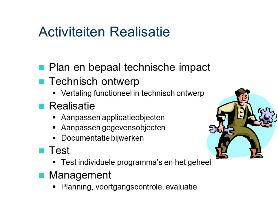 ASL - Realisatie: Activiteiten