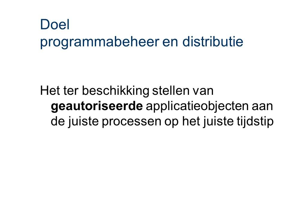 ASL - Programmabeheer en distributie: Doel
